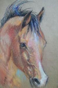 Horse, pastel